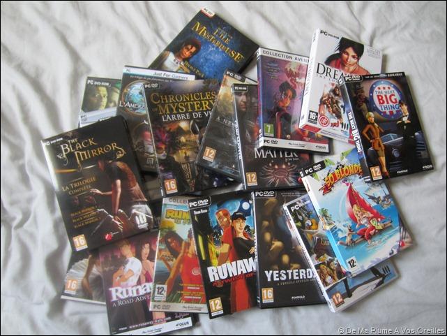 Collection jeux vidéos Critéïne